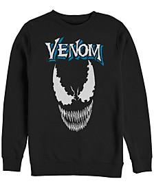 Men's Classic Venom Big Face Logo, Crewneck Fleece