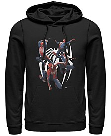 Men's Gamerverse Spider-Man Multiplied Chest Logo, Pullover Hoodie