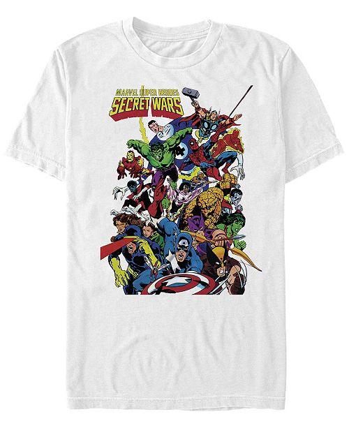 Marvel Men's Classic Comics Super Heroes Secret Wars Cover, Short Sleeve T-Shirt