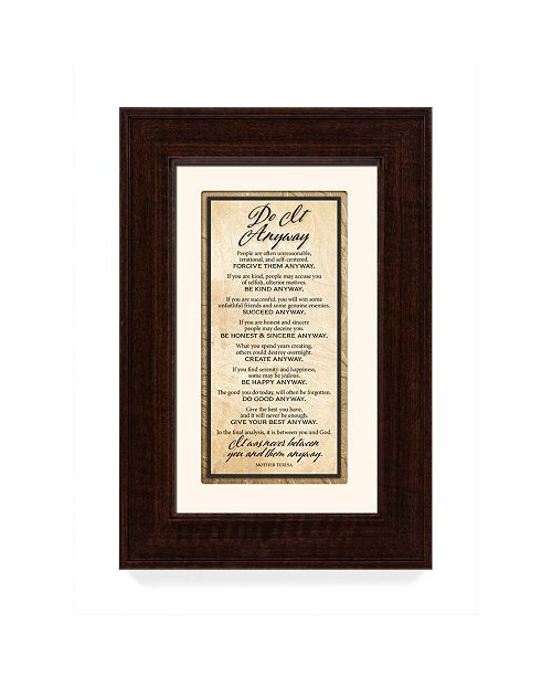 """James Lawrence Company James Lawrence Do it Anyway Traditions Framed Art, 8.5"""" x 12.5"""""""