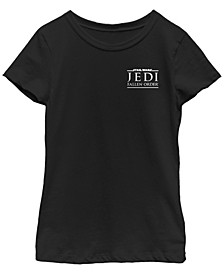 Big Girls Jedi Fallen Order Left Chest Logo Short Sleeve T-Shirt