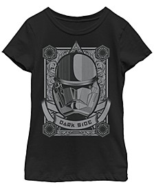 Big Girls Dark Side Trooper Card Short Sleeve T-Shirt