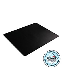 Desktex Black PVC Desk Mats Rectangular Shaped