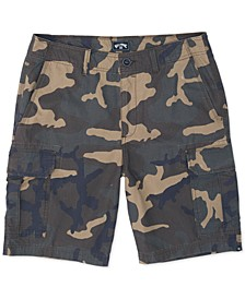 Men's Scheme Core-Fit Camouflage Cargo Shorts