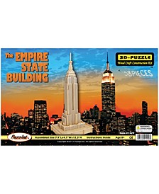 the Empire State Building Natural Wood Puzzle