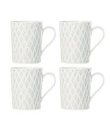 Textured Neutrals Netting Mugs/4