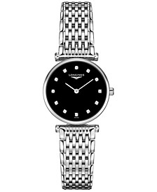 Women's Swiss La Grande Classique De Longines Diamond Accent Stainless Steel Bracelet Watch 24mm L42094586