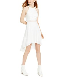 Juniors' Halter High-Low Dress