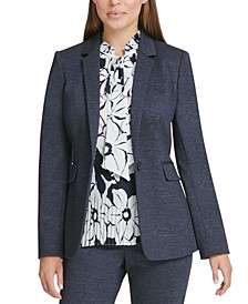 Petite Single-Button Blazer