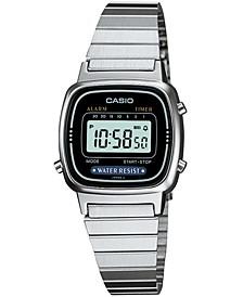 Unisex Digital Stainless Steel Bracelet Watch 25mm