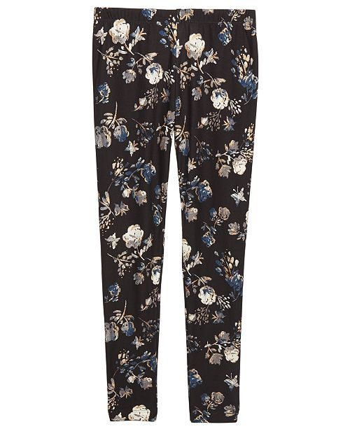 Epic Threads Big Girls Floral-Print Leggings, Created For Macy's