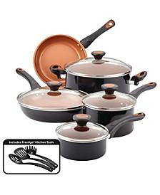 Glide Copper Ceramic 12-pc. Cookware Set