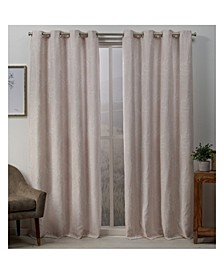 Stanton Branch Textured Grommet Top Curtain Panel Pair