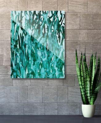 """Kitoba in Green Abstract 16"""" x 20"""" Acrylic Wall Art Print"""