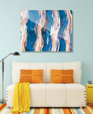 "Zimba on Blue Abstract 24"" x 36"" Acrylic Wall Art Print"