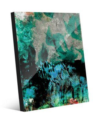 "Gonkoro in Green Abstract 16"" x 20"" Acrylic Wall Art Print"