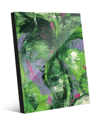 Wild Crane on Geeen Abstract 20