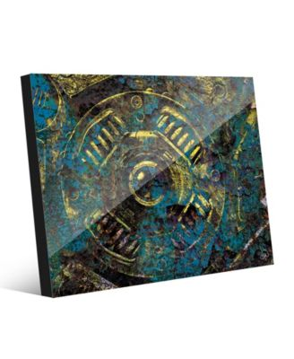 Encrusted Industrial Onlooker in Canary Abstract 16