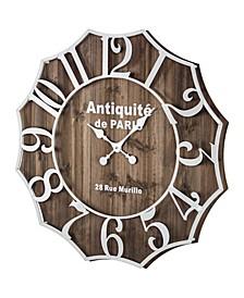 American Art Decor Antiquite De Paris Oversized Vintage-like Wall Clock