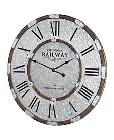 American Art Decor Caledonian Railway Glasgow Oversized Wall Clock