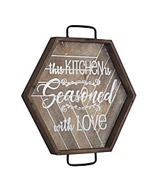 American Art Decor Kitchen Is Seasoned with Love Wood Sign