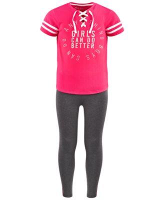 Big Girls Side-Stripe Leggings, Created For Macy's