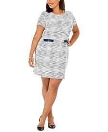 Plus Size Sheath Sweater Dress