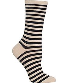 Women's Thin Stripe Crew Socks