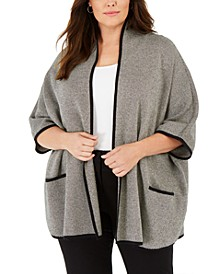 Plus Size Birdseye Dolman-Sleeve Cardigan, Created For Macy's