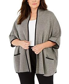 Plus Size Birdseye Dolman-Sleeve Cardigan, Created For Macy's