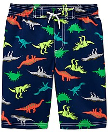 Little & Big Boys Dinosaur-Print Swim Trunks