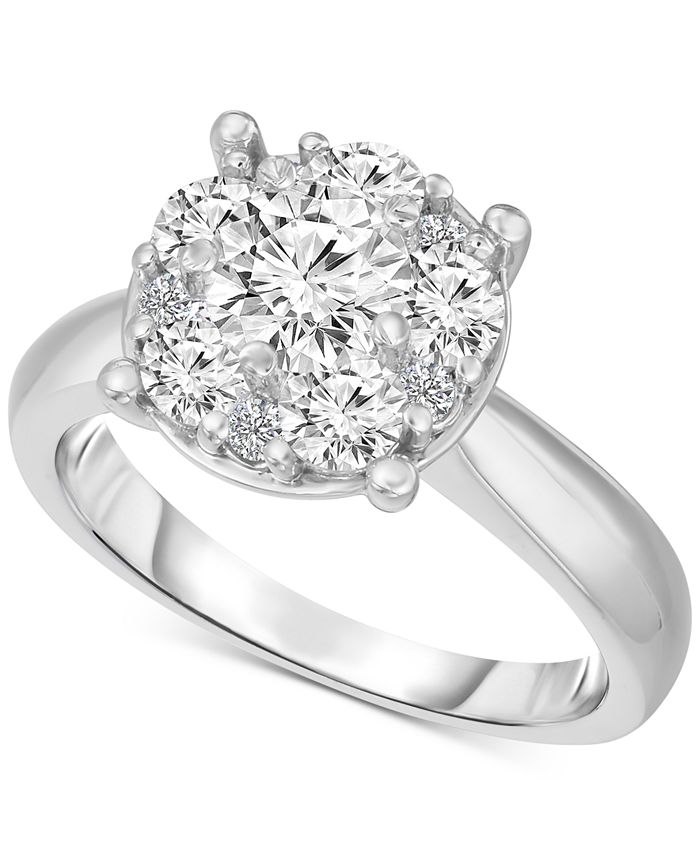 TruMiracle - Soladore Diamond Solitaire Engagement Ring (2 ct. t.w.) in 14k White Gold