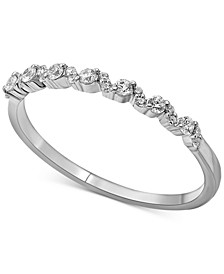 Diamond Stacking Band (1/5 ct. t.w.) in 14k White Gold