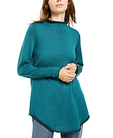 Funnel-Neck Wool Sweater, Created for Macy's