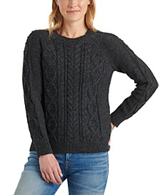 Crew-Neck Cable-Knit Sweater