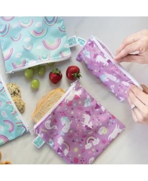 Bumkins 2-pack Unicorn & Rainbow Snack Bag Set In Multi