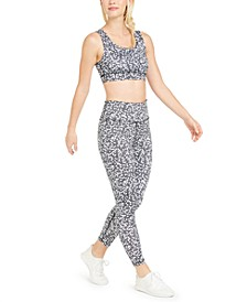 Heart-Print Strappy-Back Sports Bra & Leggings, Created For Macy's