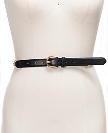 I.N.C. Smooth Belt with Chain-Link Detail, Created For Macy's