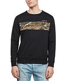 Men's Camo-Pieced Sweatshirt, Created for Macy's