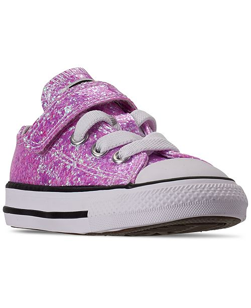 Toddler Girls Chuck Taylor All Star Coated Glitter Stay Put Closure Casual Sneakers from Finish Line
