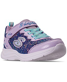 Little Girls S Lights Glitter N' Glow Stay-Put Closure Casual Sneakers from Finish Line