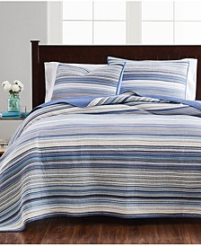 Coastal Yarndye Full/Queen Quilt, Created for Macy's