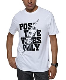 Men's Positive Vibes Pony Hair Graphic T-Shirt