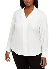 Plus Size V-Neck Blouse