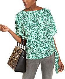 Leopard-Print Side-Tie Top