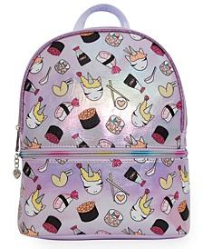 OMG Accessories Sushi Unicorn Hologram Mini Backpack