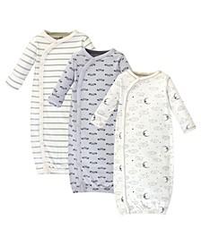 Baby Girl Organic Kimono Gown 3-Pack