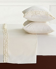 Bella Shabby Chic Easy Care Ruffled Microfiber Bed Sheet Set, Twin