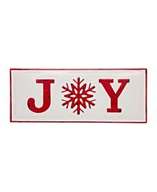"Enameled Metal ""Joy"" Wall Sign"