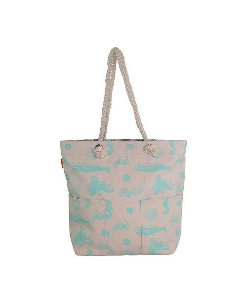 CB Station Knotted Rope Tote Printed